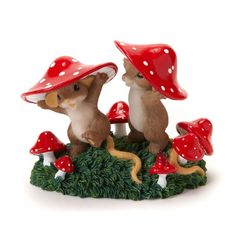 """Charming Tales Mice with Red mushroom hat Figurine 2.875"""". #CharmingTails #Statue #Sculpture #Figurine #Decor #Gift #gosstudio .★ We recommend Gift Shop: http://www.zazzle.com/vintagestylestudio ★"""