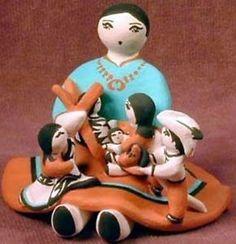 Rose-Pecos-Sun-Rhodes-Navajo-Storyteller-Story-Teller-Pottery