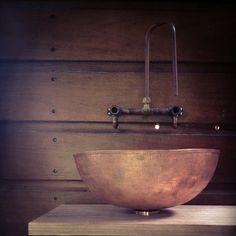 "26 Likes, 2 Comments - Eleri Smith (@eleriirele) on Instagram: ""#copper #tap #spout #basin #vanity #handmade #peterstutchburyarchitecture"""