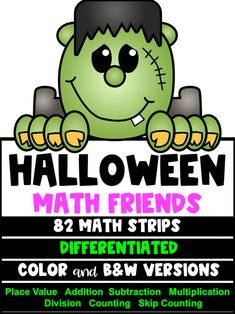Halloween Math Activities: Halloween Place Value and Number Friends Fun Math Activities, Math Games, Halloween Math, Halloween Ideas, Fourth Grade, Second Grade, Teaching Place Values, Maths Display, Math Crafts