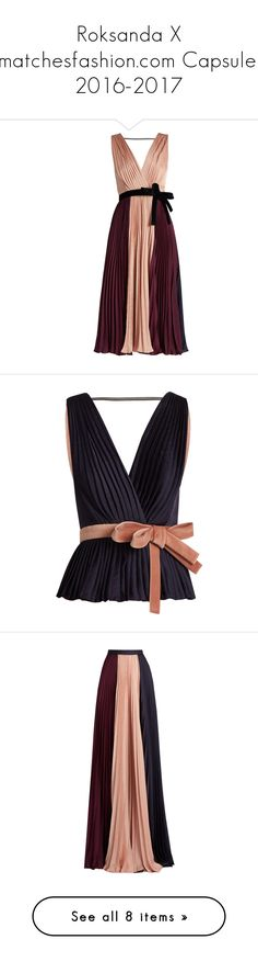 """Roksanda X matchesfashion.com Capsule: 2016-2017"" by livnd ❤ liked on Polyvore featuring roksanda, capsule, livndfashion, livndroksanda, dresses, bow, navy multi, navy blue cocktail dress, colorful cocktail dress and navy cocktail dress"