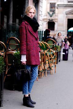 colored coat  #streetstyle
