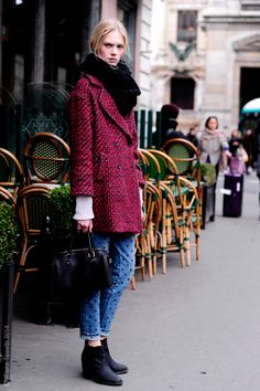 colored coat  #streetstyle