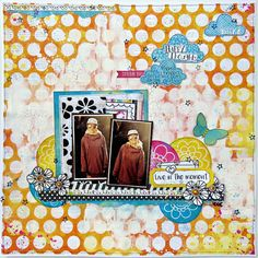 Live in the Moment Scrapbook page by Tracee Provis featuring the new mixed media products by BoBunny and the Believe Collection. #BoBunny @fluffyasever
