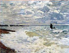 "huariqueje: "" …the infinite sea of Monet's paintings …I love them!! Gros temps à Etretat 1883 Rough Sea at Etretat 1868-69 The Sea at Saint-Adresse 1868 """