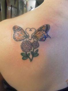 Attractive Left Back Shoulder Love Tattoo