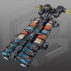 SciFi Cargoship G5 | 3D Model