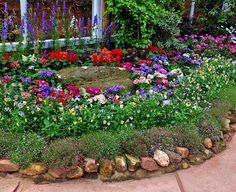 yard landscaping and backyard designs with flower beds