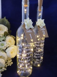 Wedding Table Plan, Light up bottle table plan, Wedding table numbers, centrepiece - Hochzeit - Wedding Planning Wedding Reception On A Budget, Wedding Decorations On A Budget, Seating Plan Wedding, Post Wedding, Diy Wedding, Wedding Planning, Reception Seating, Wedding Venues, Seating Plans