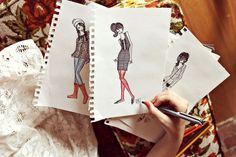 Fashion Sketching For Beginners | A Beautiful Mess | Bloglovin'