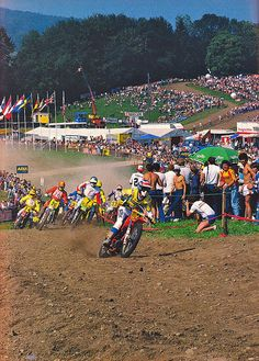 Maybe one of the biggest hole shots ever, Magoo at the Des nations in Germany, 1982.