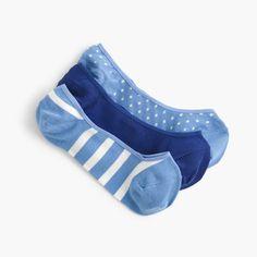 Mixed no-show socks three-pack - J crew