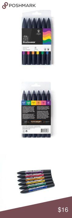 Winsor /& Newton Promarker 6pc Noir /& Blender Set