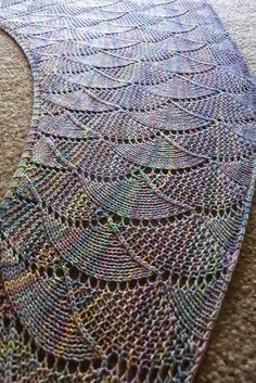 Ravelry: Harlequin Opal Shawl pattern by verybusymonkey Lace Knitting, Knitting Stitches, Knitting Patterns, Knitting Scarves, Crochet Patterns, Knitted Shawls, Crochet Shawl, Knit Crochet, Shawl Patterns