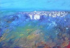 Dalle colline 70x50 cm acrilico su tela Luigi Torre painter 2015