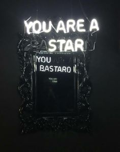 View You Are A StarYou Bastard by Camilo Matiz on artnet. Browse more artworks Camilo Matiz from Avant Gallery. Neon Aesthetic, White Aesthetic, Aries Aesthetic, Double Sens, Neon Quotes, Neon Words, Mirror With Lights, Neon Lighting, Slogan