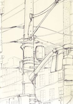 i dig this 'technical' power line sketch