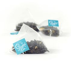 Item Code: 4079US Jazzy Jasmine, 18 Tea Triangles  Ingredients: Green tea, Jasmine blossoms. 1.90 oz (54 g)