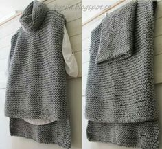 55 Ideas For Knitting Baby Vest Pattern Link Easy Knitting, Loom Knitting, Knitting Patterns Free, Poncho Mantel, Vest Pattern, Tear, Knitted Poncho, Crochet Clothes, Pulls