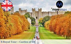 A Royal #Tour - #Castles of #UK. Read more... #MoreVisas  https://www.blog.morevisas.com/a-royal-tour-castles-of-uk/