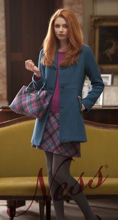 Alma in North Sea. Brightens any-day with chic style! http://www.ness.co.uk/coats-jackets/alma.html