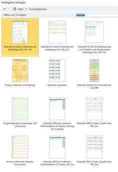 Jahreskalender in Microsoft Excel per Vorlage erstellen