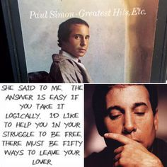 There must be 50 ways to Listen to 8-Tracks. Paul Simon's Greatest Hits Etc. on 8-Track at 8trackparadise.com #paulsimon #50wayson8track #folkrock8track #greatesthits8track #8tracks #8trackparadise