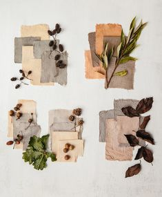 An Autumn Palette of Botanical Dyes - Bathrobe Natural Dye Fabric, Natural Dyeing, Art Du Collage, Arte Sketchbook, Scrapbook Journal, Journal Stickers, Aesthetic Stickers, Dried Flowers, Art Inspo