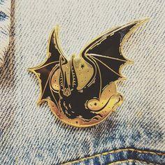 Sassy Bat Enamel Pin