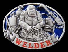 WELDER WORKER TOOLS WELDING EQUIPMENT OCCUPATION BELT BUCKLE BOUCLE CEINTURES #Unbranded #Casual