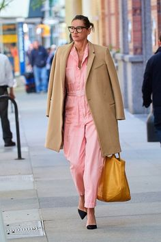 Former J.Crew executive creative director and president Jenna Lyons proved that millennial pink can be sported by grown-ups, too.