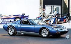 Scarica sfondi Lamborghini Miura, Retro sports car, classic cars, Lamborghini