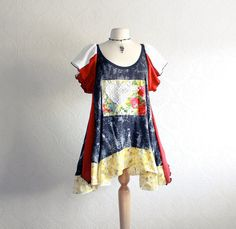 Upcycled - Reconstructed- Bohemian Tunic by BrokenGhostClothing