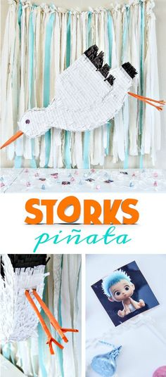 How to make a stork pinata inspired by the new animated movie STORKS. This is…