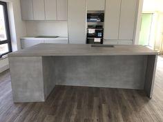 Concrete Furniture, Polished Concrete, Corner Desk, Islands, Home Decor, Homemade Home Decor, Concrete Outdoor Furniture, Corner Table, Island