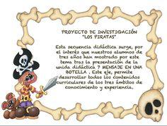 """Infantil Mercedarias: proyecto investigación """" los piratas """""""