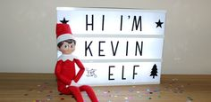 Introducing Kevin, the Scout Elf The Elf, Elf On The Shelf, Magical Christmas, Family Traditions, Candy Cane, Elves, Cool Pictures, How To Memorize Things, Shelf Ideas