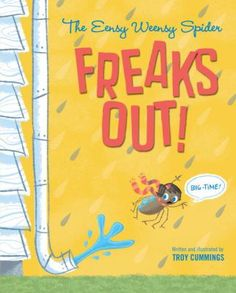 Artist Troy Cummings has created a clever spin-off of the Eensy Weensy Spider nursery rhyme in this humorous picture book, sure to appeal to kids and adults who also love fractured fairy tales.