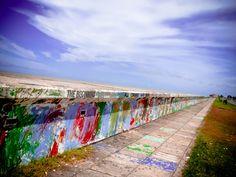 seawall art in British Guyana, South America