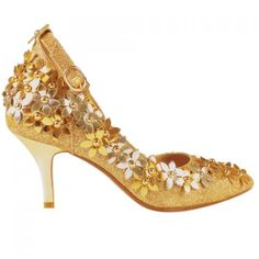 Graceful Sequins and Flowers Design Pumps For Women #CLICK! #clothing, #shoes, #jewelry, #women, #men