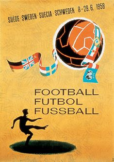 1958 FIFA World Cup official poster