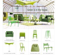 Green furniture can work...