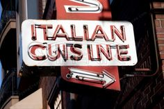Old Italian Cuisine Neon Sign Stock Photo #streetphotography #urbandecay