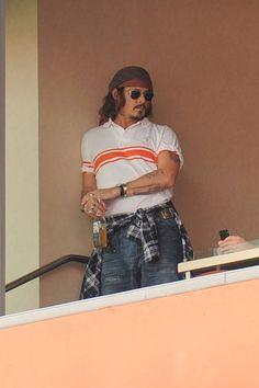 Johnny Depp in Miami (2010)