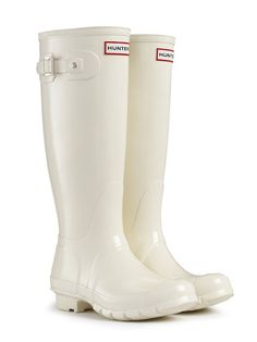 Gloss Rain Boots | Original Tall Gloss | Hunter Boot US ... And the white is adorable @Kayla Ruby