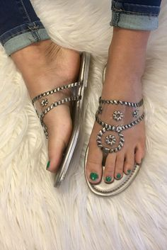 7a5ab81c1e9d It s all Clear Jack Inspired Sandals - Silver