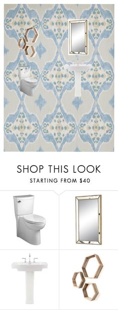 """""""AF Powder Room"""" by cek-harris on Polyvore featuring interior, interiors, interior design, home, home decor, interior decorating and American Standard"""
