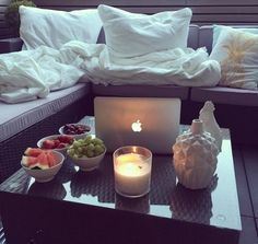 write a good book  #apple #candles  #blankets #pillows
