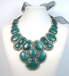 emerald and crystal gemstone by Ezza