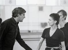 Rehearsals for Romeo and Juliet (1965), Kenneth MacMillan with Margot Fonteyn and Rudolf Nureyev